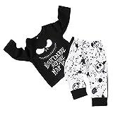 DaceStar 2 Piezas Set de Xmas Recién Nacido Niño Bebe Ropa,Otoño Invierno Nightmare Before Chirstmas Infantes Pijama Manga Larga Imprimir Arriba + Conjunto de Pantalones de Traje(3-4Años)