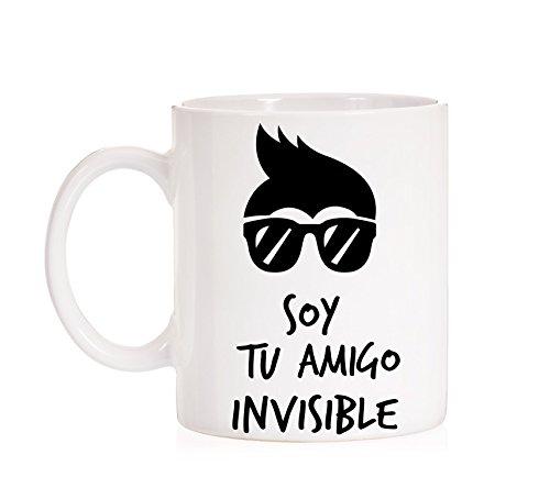 MardeTé Taza Soy tu Amigo Invisible. Taza de Regalo Divertida para felicitar los Amigos Invisibles