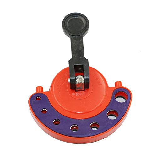 Heinside Strong 4-12mm glass hole drill bit locator tile punching suction cup multifunction quality alloy steel adjustable size positioning tool Durable (Color : Multi-colored)