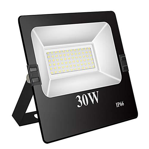 TOPLANET Focos Led 30W Exterior con 3500LM Foco Proyector LED IP66 Impermeable LED Seguridad Floodlight para Patio/Jardín/Garaje (30w)