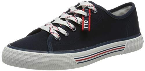 TOM TAILOR Damen 1195305 Sneaker, Navy, 38 EU