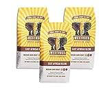 Westrock Coffee Company East African Blend, Medium-Dark Roast, 12-ounce Ground, 3-pack