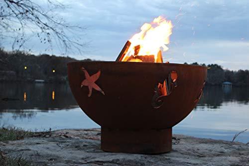 Fantastic Deal! Fire Pit Art SeaCreatures-FPA-MLS120-LP-AWEIS Fire Pit LP, Metal