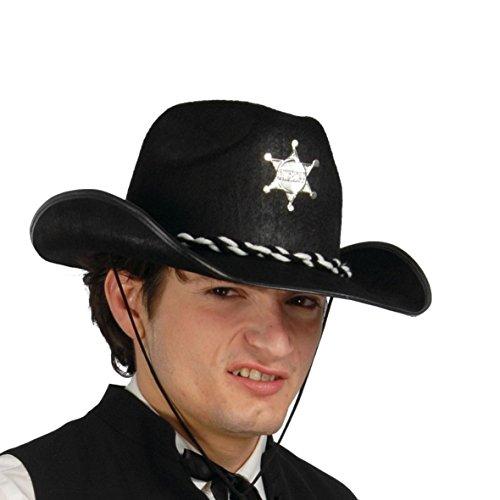 Guirca Fiestas GUI13547 - Schwarzer Filz Sheriff-Hut