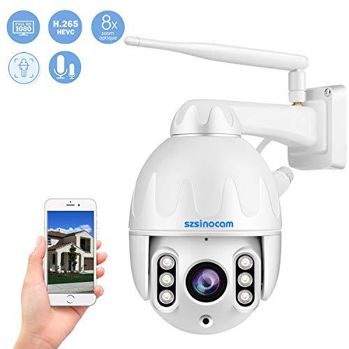 PTZ Dôme Caméra Surveillance WiFi Extérieure,Caméra IP...