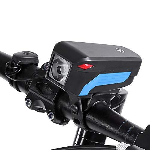 Mit wiederaufladbarer USB-Fahrradtaschenlampe für die meisten Berg- und Straßenfahrräder(blue)