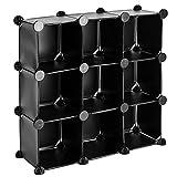 PrimeMatik - Armario Organizador Modular Estanterías de 9 Cubos de 17x17cm...