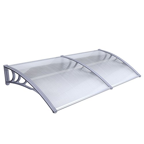 Mcombo 40'X80' Window Awning Outdoor Polycarbonate Front Door Patio Cover Garden Canopy 6055-4080 White