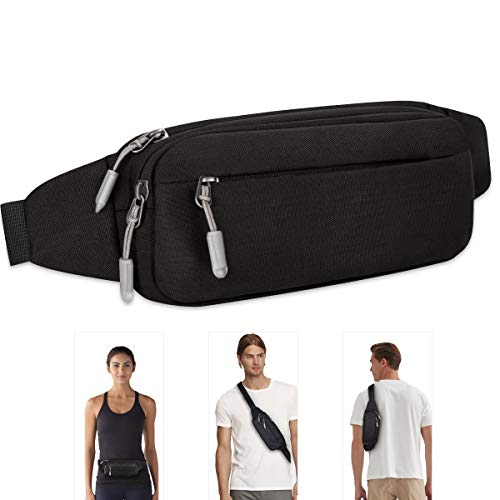 Ferswe Bumbag Waist Bag, Compact Fanny Pack with Water Resistance for...