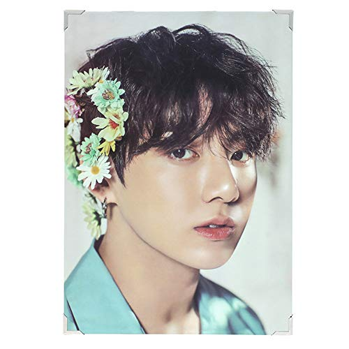 Cianowegy Kpop BTS Bangtan Boys BTS Wings Official Premium Poster Photocard Photo Frame Poster Large Photo Card Postcard, Fans Collection Version, 14.4×9.3 Inch(Version 2019: JUNG KOOK)