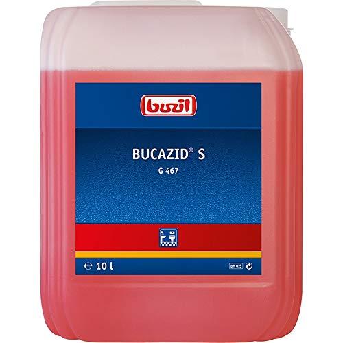 Buzil Sanitärreiniger Bucazid S G467 Kraftvoller Reiniger, für Bad und WC mit Geruchsblocker, Rot, Kanister - 10l