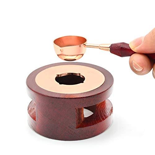 Wax Seal Warmer Melting Kit, Wax Beads Melting Furnace Stove Pot and Melting Spoon, Vintage Wax Melting Tool for DIY Arts Crafts Wax Stamp Invitation Card Making