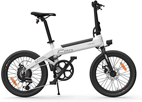HIMO C20 Bicicletta elettrica, bici elettrica pieghevole a pedalata assistita per adulti 20 pollici 80 km Gamma 6 velocità 3 modalità di guida Velocità massima 25 km/h (Grigio)