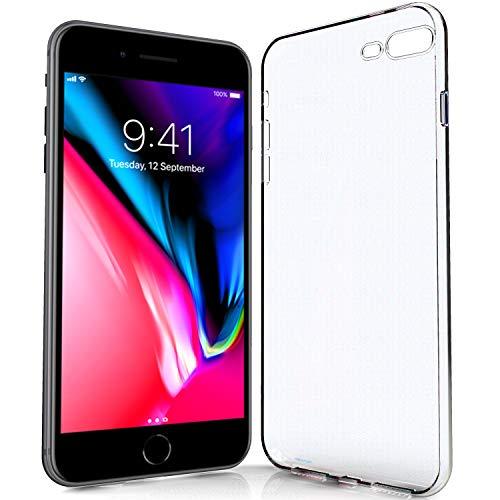NewTop - Carcasa transparente ultrafina y ligera que protege de arañazos y golpes en TPU gel suave silicona para iPhone SE 2020/7/8/7 Plus/8 Plus/6/6S/6 Plus/6S Plus/5/5S/SE