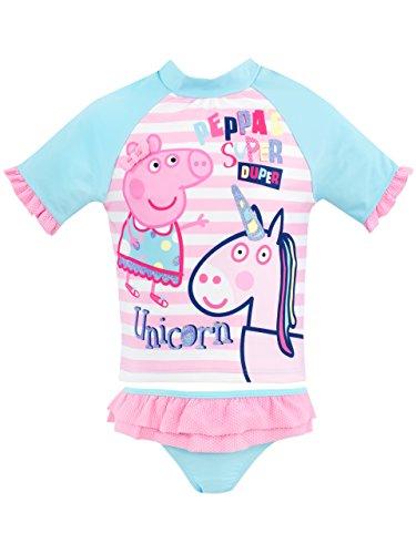 Peppa Pig Bañador de dos piezas para niña Peppa a Unicornio Rosa 2 - 3 Años