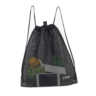 Heavy-duty Mesh Drawstring Bag Mesh bag for Pool Toys, Mushroom, Beach, Swimming