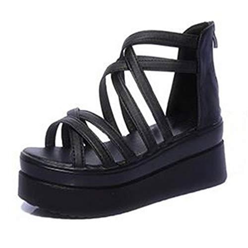 Zapatos de Verano de Las Mujeres Simples Elegantes Dama Cruz rocío roce...
