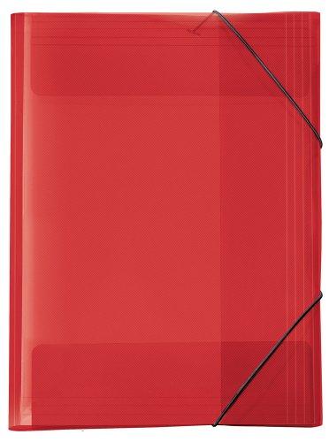 Veloflex 4432221 Sammelmappe A3 Crystal rot, PP, mit Gummizug, Eckspannermappe, Ordnungsmappe, Zeichenmappe