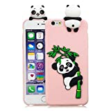 LAXIN Cute Case for iPhone 6 / 6s Cover Silicone 3D Panda Unicorn for Girls Women Boys, Soft Gel Shockproof Protective Cover Slim Backcover Thin Rubber Shell - Pink Panda