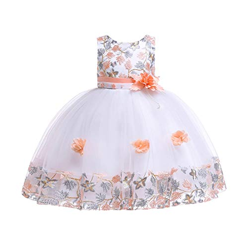 Aiweijia Mädchen Kleid Kinder Rüschen Spitze Prinzessin Kleid Party Brautkleider