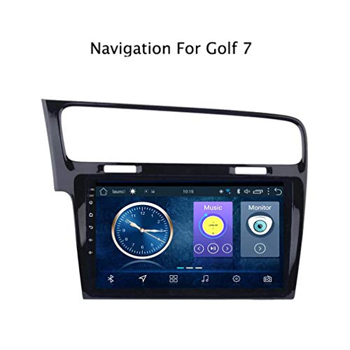 DUMXY 10.1 Pulgadas Android 8.1 Full Touch Car Multimedia System para Golf 7 2014-2018 GPS Radio Navigation | Control del Volante | 2DIN