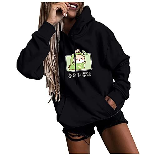 Genorsk Damen Hoodie Pullover Langarm Sweatshirtkleid für Frauen und Teens Herbst Winter GroßE GrößEn Longtops Blusentops Damen(S-3XL)