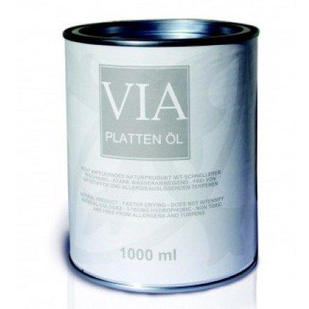 Via Plattenöl | 1 Liter | Zementmosaikplatten | Marmor | Travertin | Terrazzo | Stein