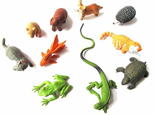 Miniblings 10x Haustiere Set Tierfiguren Aufstellfiguren Katze Hund Hase Hamster