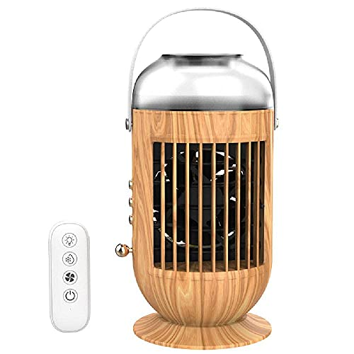 Aire Acondicionado Portátil Aire acondicionado de escritorio Refrigerador de aire Fan de enfriamiento, ventilador de refrigeración por agua móvil USB para oficina de habitación, blanco- sin control re