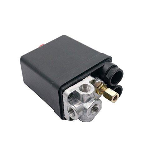 15 A 90–120 PSI 4 ports Compresseur d'air Pompe à Pression on off Bouton interrupteur contrôle