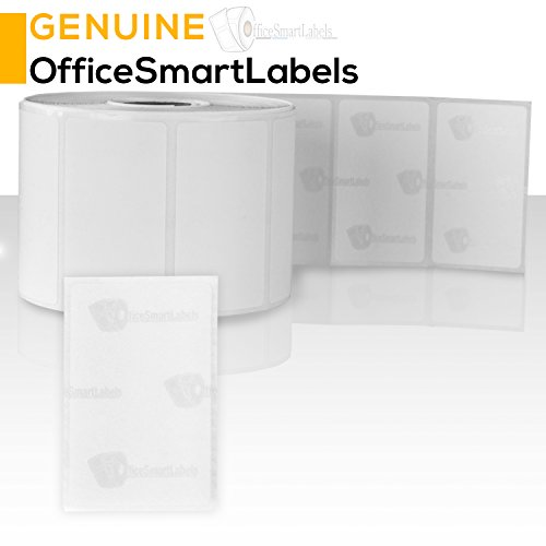 OfficeSmart Labels ZR1214114-2.25 x 1.25 Inch Removable Direct Thermal Labels/Compatible with Zebra Printers (4 Rolls, White, 1000 Labels Per Roll, 1 inch Core) Photo #4