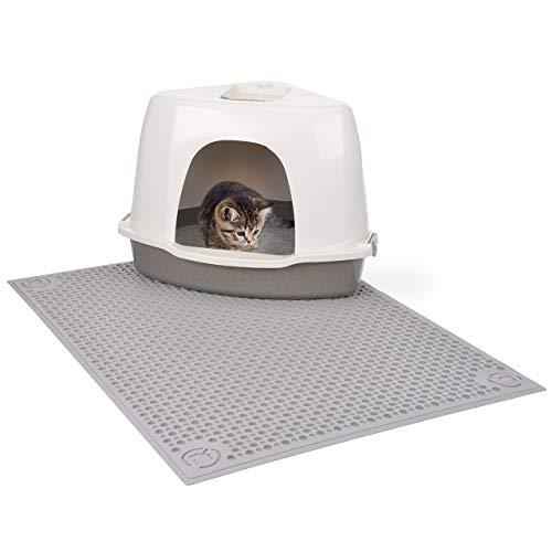 CanadianCat Company ® | XXL Auffangmatte 70 x 90 cm - Katzentoilettenvorleger -sauberlauf Zone der Vorleger für die Katzentoilette