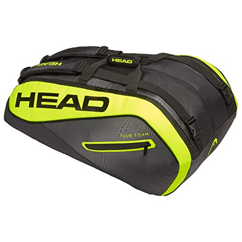 Head Tour Team Extreme 12R Monstercombi, Borsa per Racchetta Unisex-Bambini, Black/Neon Yellow
