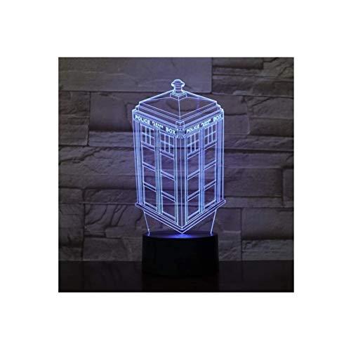 Mood Light, Creative Night Light 3D Casella di chiamata Lampada Lampada Night Light Bambini Bambini Bambini regalo Regalo Cabina telefonica Scatola di polizia Lampada da lampada decorativa, illuminazi