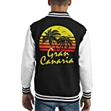 Cloud City 7 Gran Canaria Vintage Sun Kid's Varsity Jacket