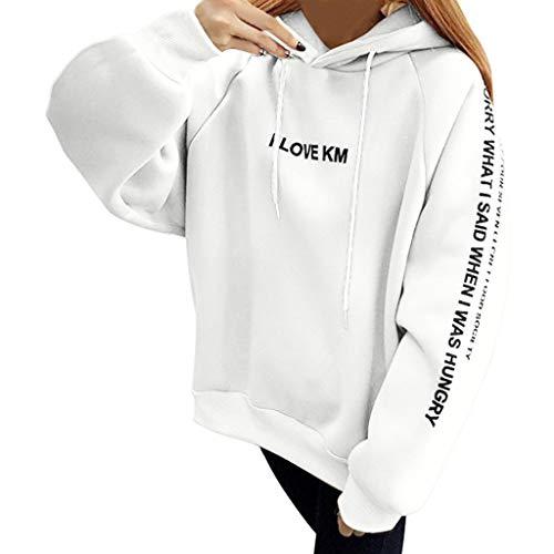 Xinantime Sudadera con Capucha Mujer Moda Manga Larga Casual Sudaderas Suelto Suéter Tumblr Largo Mujer Jersey Mujer Otoño Primavera Camiseta Blusa Tops Abrigo Deportiva Completa
