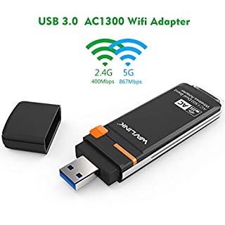 1300Mbps USB WiFi Adapter - Wavlink Dual Band AC1300 Wireless USB 3.0 Adapter - 2.4GHz 400Mbps/5Ghz 867Mbps WPS & Soft AP, Support Windows XP/7/8/8.1/10, USB 3.0 WiFi Network LAN Card Dongle - Black (B07DBKDTT1) | Amazon price tracker / tracking, Amazon price history charts, Amazon price watches, Amazon price drop alerts