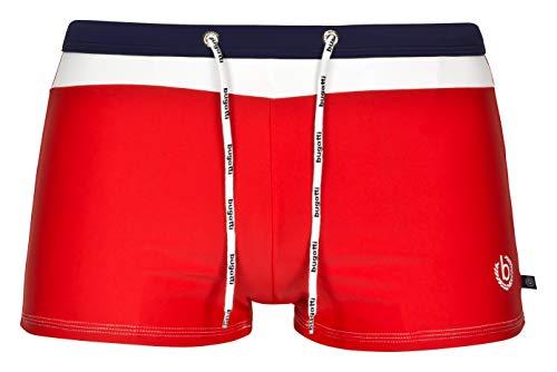 bugatti® - Herren Badehose / Badepants in rot, Größe M(Herstellergröße: 5)