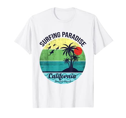 Surfing Paradise California Diseño para un surfista Camiseta