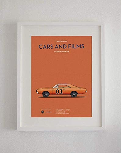 Libitusgift Sale The Dukes of Hazzard Tv Series Car Present for Lovers Poster Wall Art Present Lovers, Livingroom Home Decor, Poster No Framed E29W (32'x48')