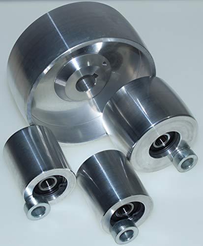 """(AL5""""-19mm) CNC gefrästes Riemenschleifer Set für Messerschleifer 130 mm Antrieb-19 mm Schaft 75 mm Spur 50 mm Idler…"""