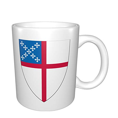 Shield of the US Episcopal Church Mugs Funny Coffee Mug Ceramic Novelty Gift Hand Painted Cafe Cups