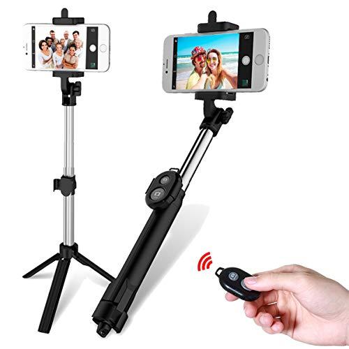 Yunnyp Statief Selfie Stick Met Zelfontspanner Uitschuifbare Monopod Statief Bluetooth Afstandsbediening Sluiter Selfie Stick Voor Mobiele Telefoon