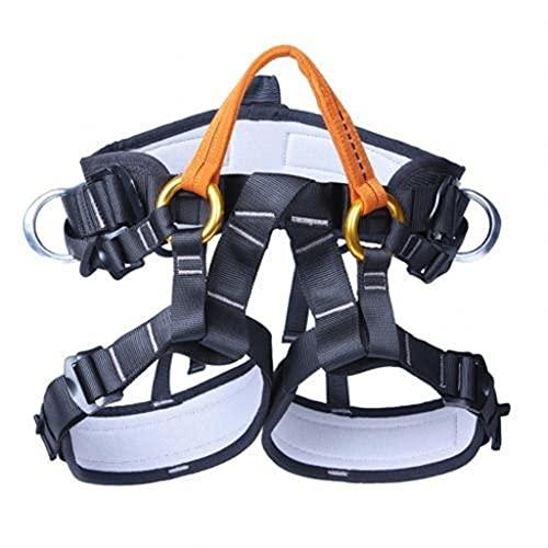 JTSYUXN Mehrzweck Taille Hüfte Schutz Gürtel Klettergurt Sicherheitsgurt ür Bergsteigen Baumklettern Absturzsicherung Outdoor (Color : Orange)
