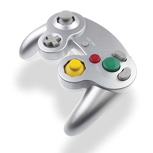 GC Controller Joystick für Wii Wired Game Controller Joypad Dual Vibration NGC Gamepad Game Cube Original Controller GC Spiele für GameCube & Wii (Silber)