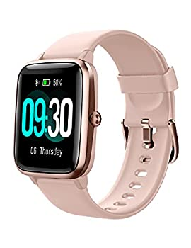 Willful Smart Watch for Android Phones and iOS Phones Compatible iPhone Samsung IP68 Swimming Waterproof Smartwatch Fitness Tracker Fitness Watch Heart Rate Monitor Smart Watches for Men Women Pink