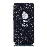 Nadoli Coque Huawei P8 Lite 2017,Créatif Doux Soft Noir Étui en Silicone Antichoc...