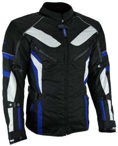 HEYBERRY Touren Motorrad Jacke Motorradjacke Textil schwarz blau Gr.XL