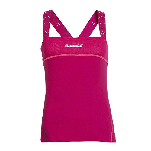 Babolat Match Performance - Camiseta de tirantes para mujer, color rojo, tamaño S-128-8