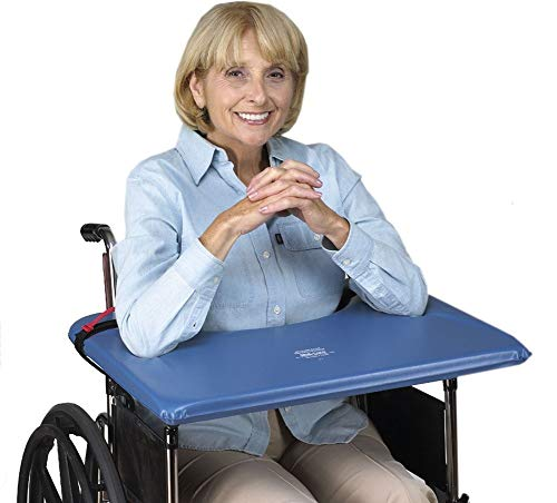 "Skil-Care Softop Wheelchair Tray, 16""-18"", Vinyl (Blue)"